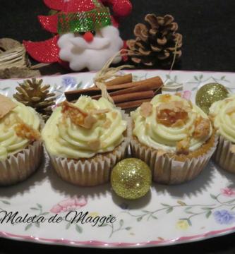Cupcakes de vainilla y turrón