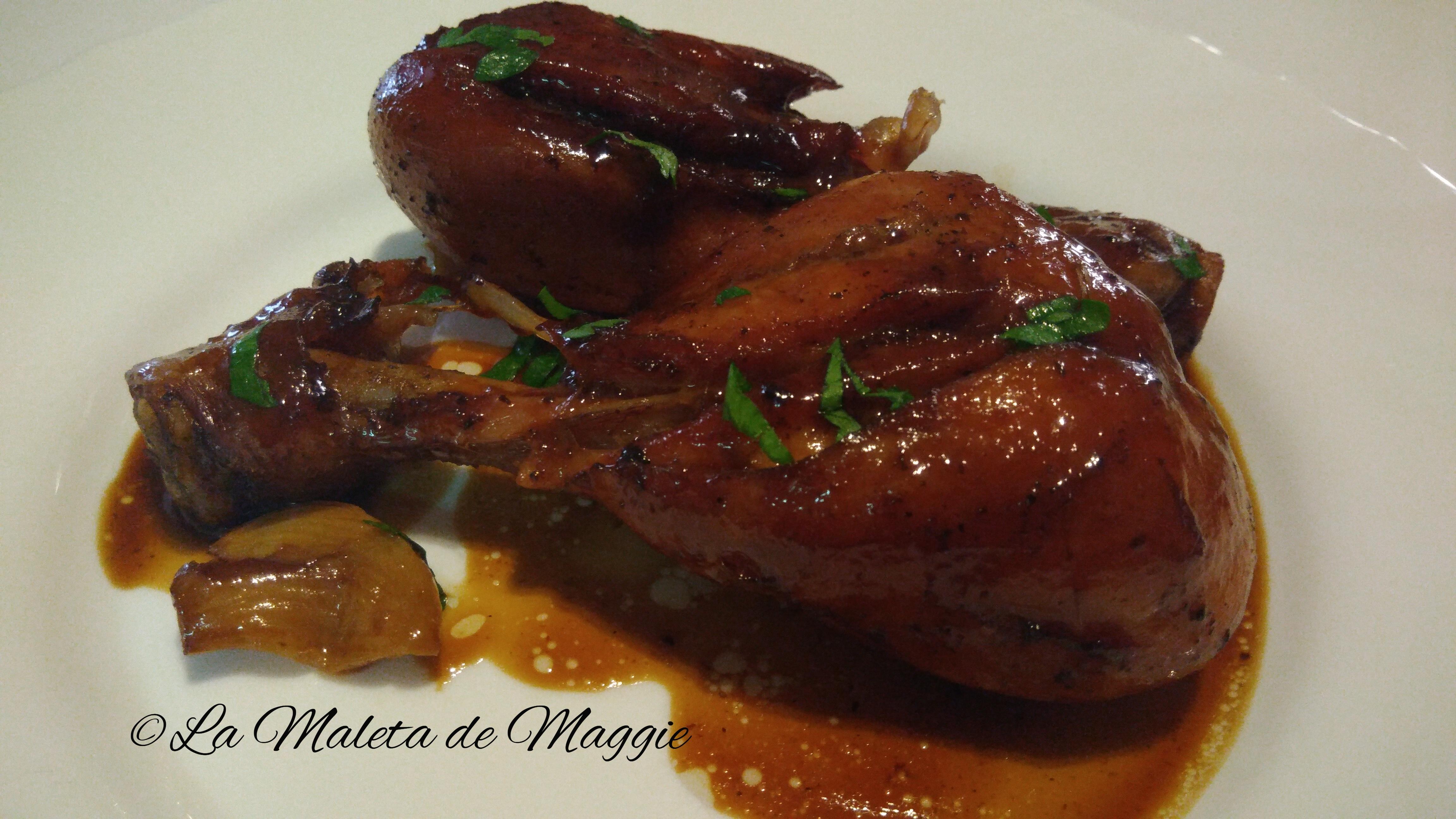 jamoncitos de pollo en salsa de soja