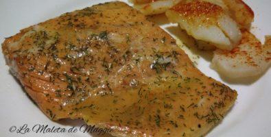 Salmón marinado con limón