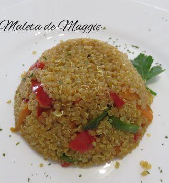 Quinua con verduras en salsa de curry y soja