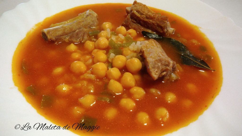 Guiso de garbanzos y costillas