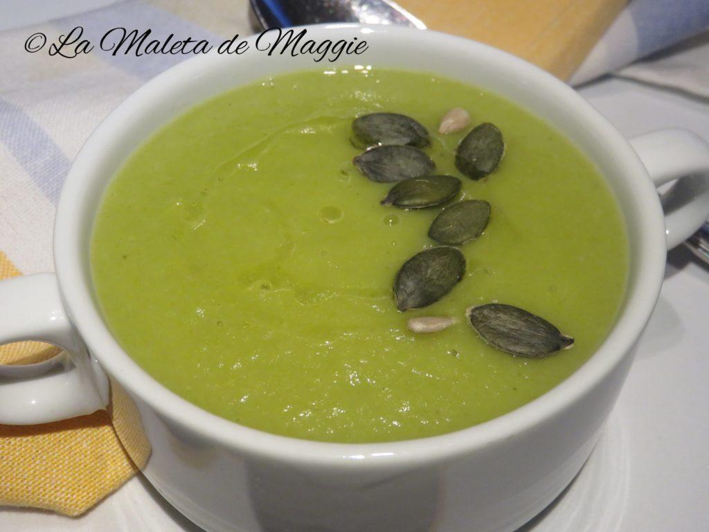 Crema de judía verde al curry
