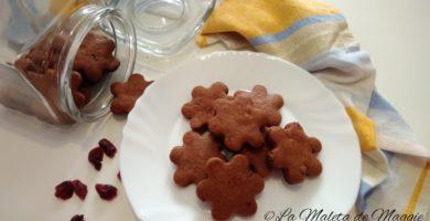 galletas de chocolate con arándanos