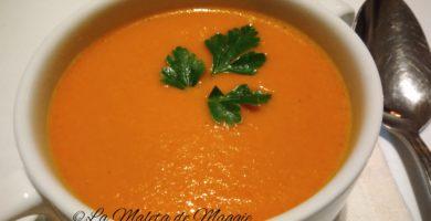 Crema de pimiento con zanahoría