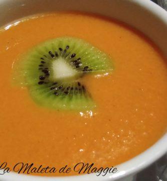 Gazpacho de kiwi con tomate