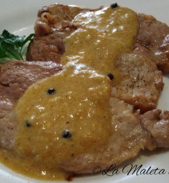 Lomo en salsa de pimienta