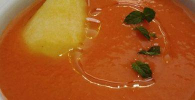 Gazpacho de pera