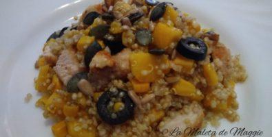 ensalada de quinoa y frutas