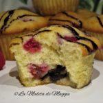 Muffins de frambuesa y nutella