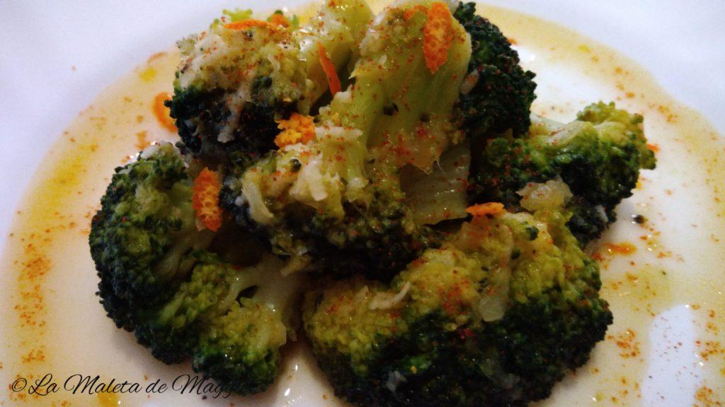 Brócoli en salsa de mandarina