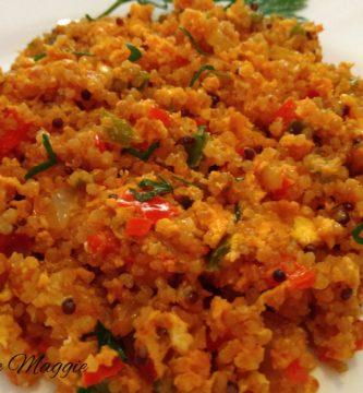 Quinoa con huevos revueltos