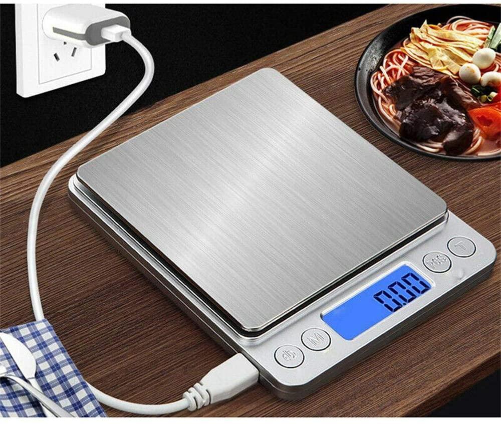 Báscula de cocina digital con carga USB