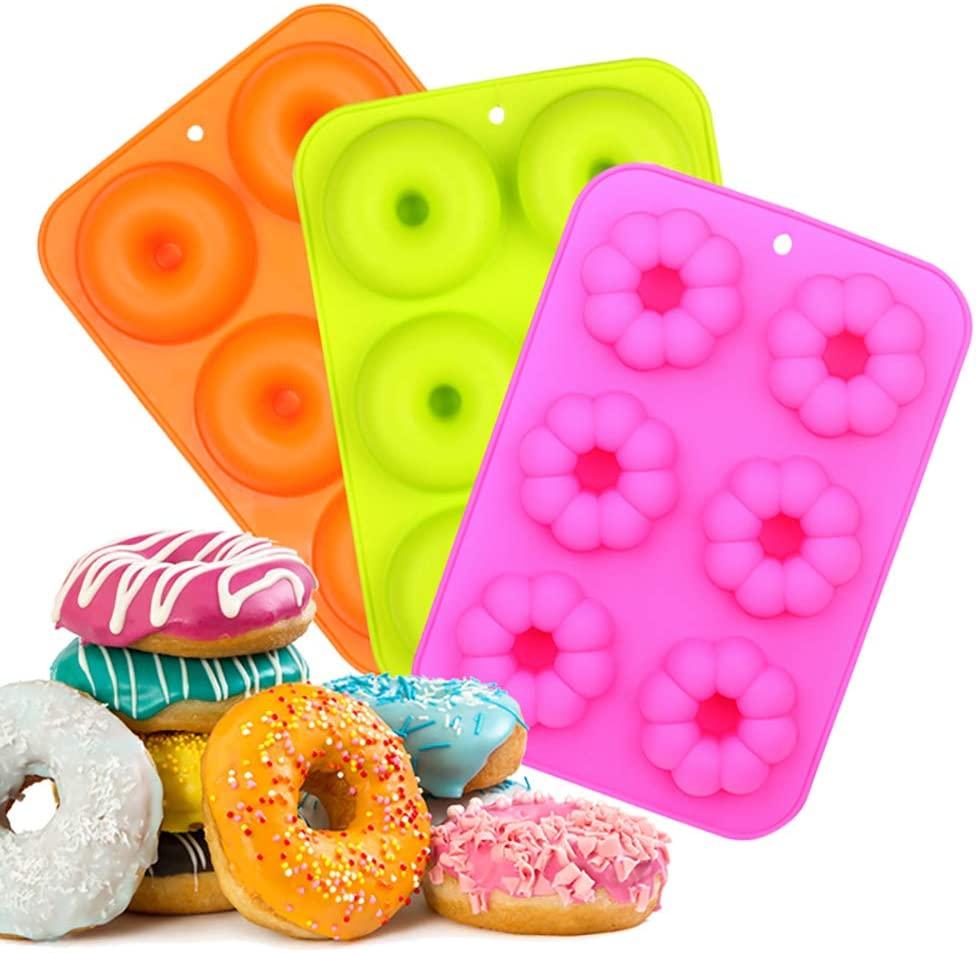 EKKONG Moldes de Silicona Donut