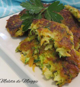 Tortitas de calabacín y zanahoria