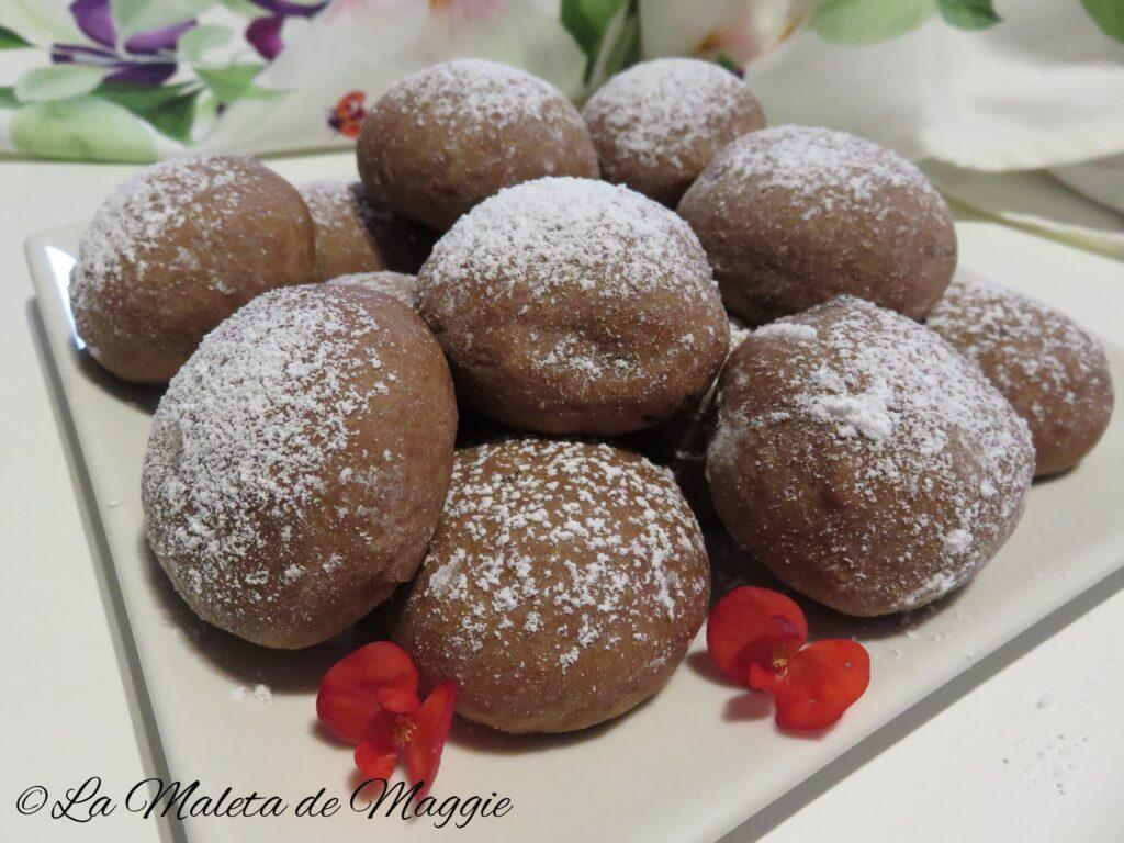 Galletas con yogur griego y chocolate