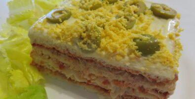 pastel de atún y surimi frío