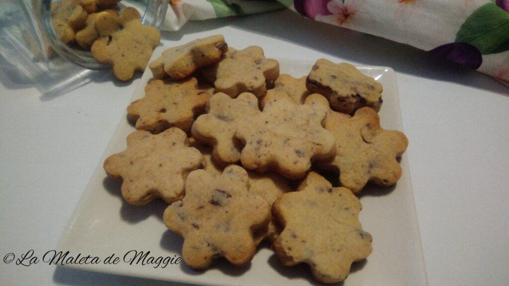 galletas de piña y chocolate