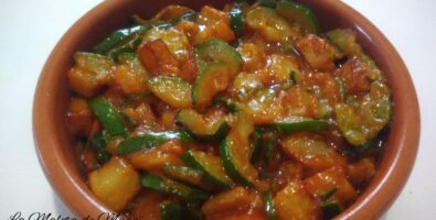 Cazuelita de patatas calabacin y cebolla