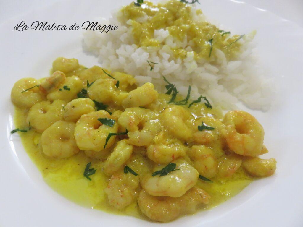 Gambas al curry