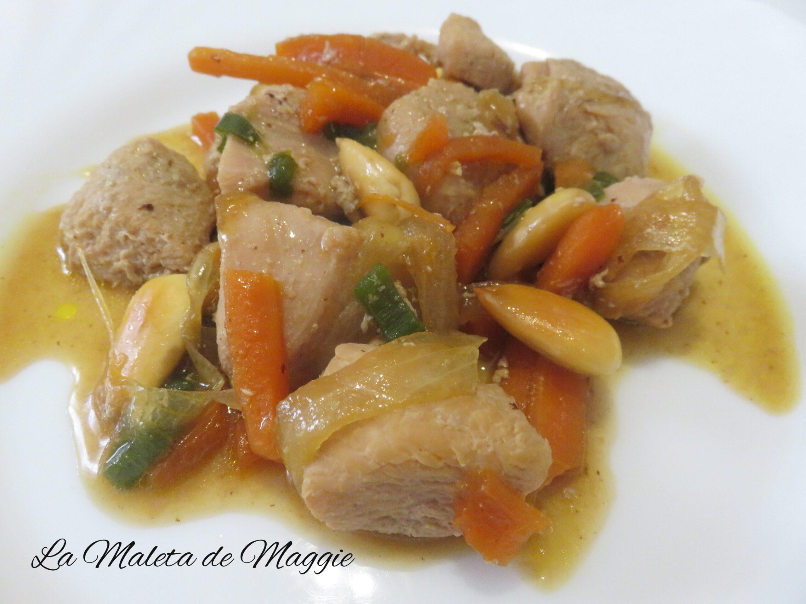 ¿Cómo preparar pollo en salsPollo en salsa de almendras