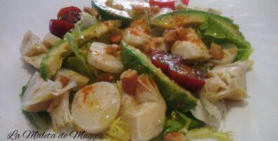 ensalada de palmitos y alcachofa