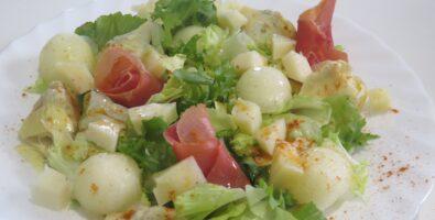 ensalada con melón y jamón