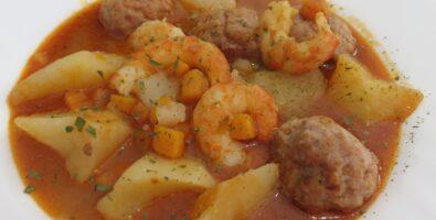 guiso de patata mar y montaña